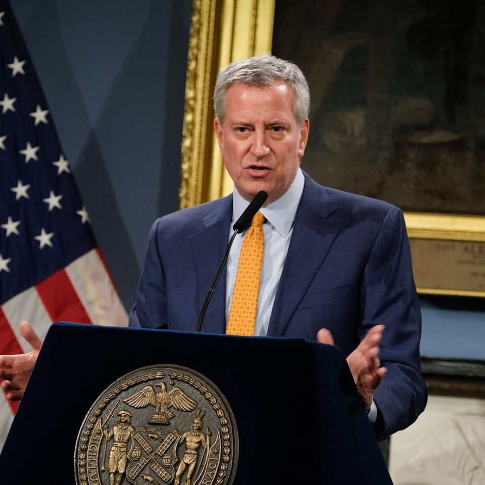 Facebook/MayorBilldeBlasio